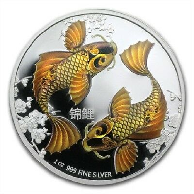 2012 $2 Niue - Feng Shui - Koi 1oz silver proof coin - New Zealand Mint
