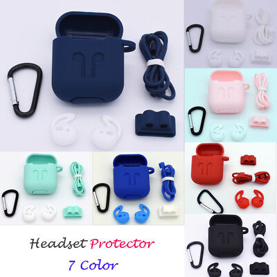 AU For iPhone 5Pcs Headset Charging Data Cable Protector Saver Protective Cover