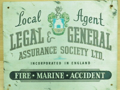 Old Metal Local Agent Assurance Sign, Old Sign (L320)