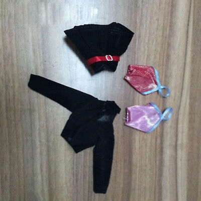 Doll AccessoriesOutfit Black Jacket Top Skirt Dress For Barbie Doll Clothes 1#