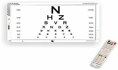 """Snellen LED Visual Acuity Chart 20"""" LED Display with Remote Control"""
