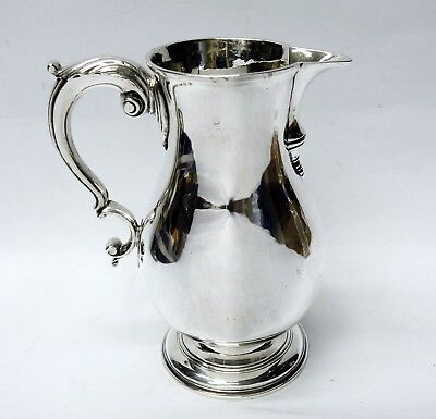 George II Silver Beer Jug Made by THOMAS WHIPHAM, London 1748. Stock ID 9095