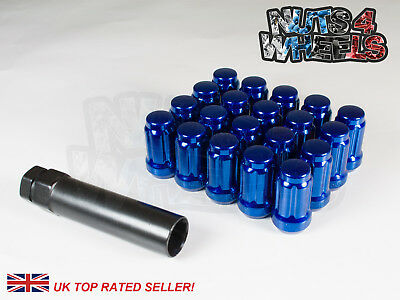 20 x Blue Spline Wheel Nuts M12x1.5 Fits Ariel Atom Lotus Elise