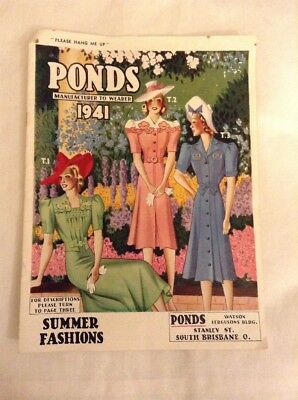 Vintage Rare Ponds Manufacturer To Wearer 1941 Catalogue Clothing Ladies