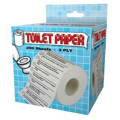 Crap Jokes Design Toilet Paper Roll Tissue Prank Joke Gag Gift