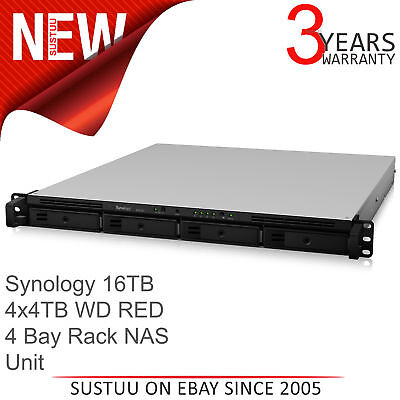 Synology RS818+ 16TB (4 x 4TB WD RED) 4 Bay Network Attached Storage Rack Unit