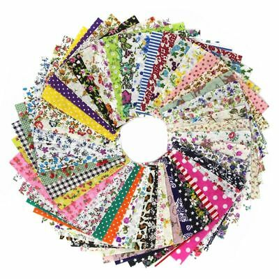 DIY quilting Patch 60pcs 10cmx10cm charm pack cotton fabrics cloth sewing I6K2