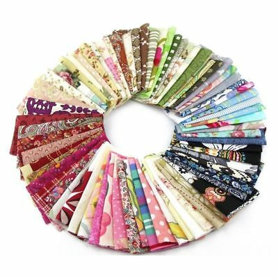 Fabric Patchwork Craft Cotton Material Batiks Mixed Squares Bundle, 10 x 10 S6M7