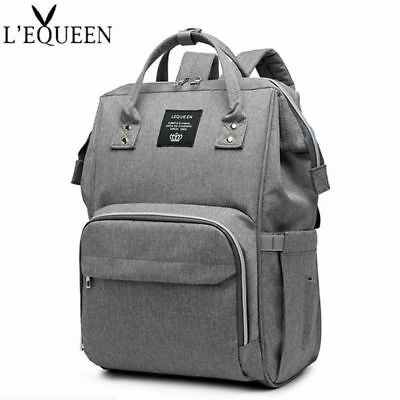 LEQUEEN Baby Diaper Bag Waterproof Mummy Maternity Nappy Travel Backpack Pad