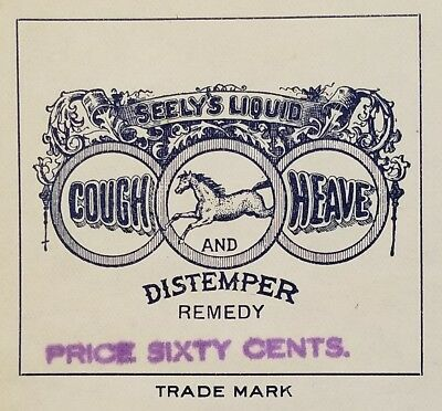 1920 Invoice ~ S.S. Seely & Co. - Liquid Cough, Heave & Distemper Remedy ~ NY