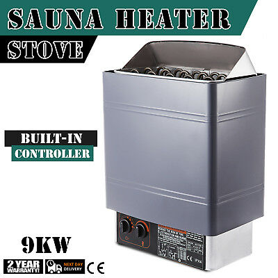 9KW Wet&Dry Sauna Heater Stove Internal Control Easy Install Relief Fatigue Home