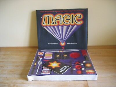 Vintage Thomas Salter Magic Set No. 2 - Props for 45 Tricks - Unused Sealed Box