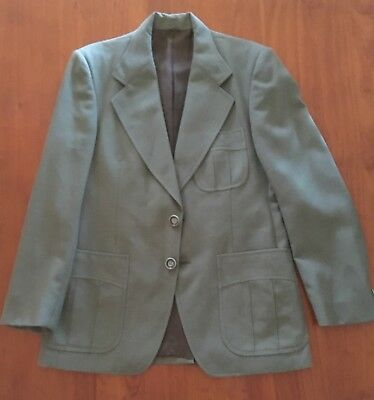 Vintage Mens Safari Suit Jacket