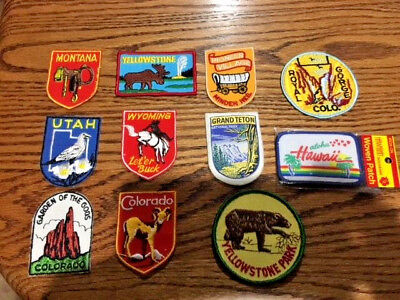 Lot of National Park and State Souvenir Patches