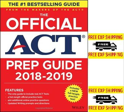 The Official ACT Prep Guide, 2018-19 Edition (Book + Bonus Online Content) NEW