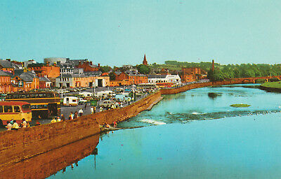 Whitesands Dumfries Picture Scotland c.1974 Printed Unposted Postcard