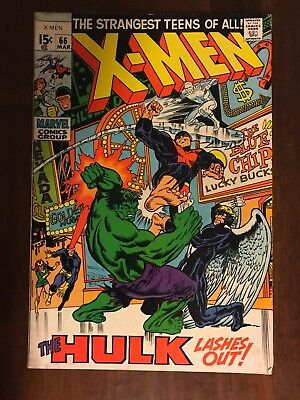 X-Men 66 FN 6.0 * 1 Book Lot * Hulk! Mutants and the Monster! Thomas & Buscema!