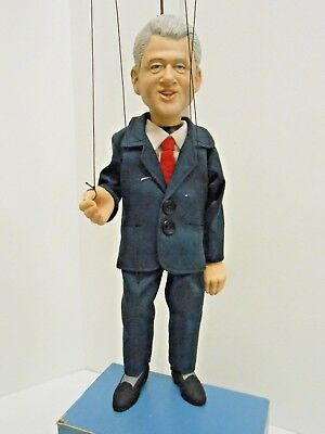 President Bill Clinton Marionette Professional Hand Crafted Mint Condt. Puppet