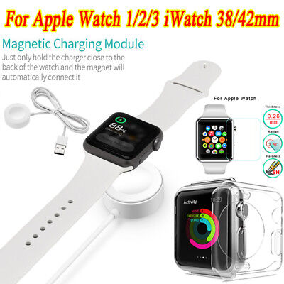 For Apple Watch Charger Magnetic Cable TPU Case for iWatch 38/42mm 1/2/3 Lot PR1