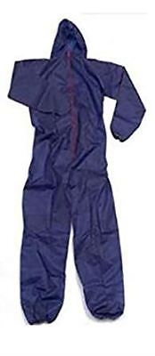 DiSPOSABLE COVERALL DIRT PROTECTION for WORKSHOP PAINTING DIY SPRAYING [M,Blue]