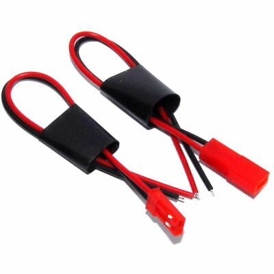 2pin JST RCY Matched Connector Pair 10cm Leads LIPO Male Female Flux Workshop