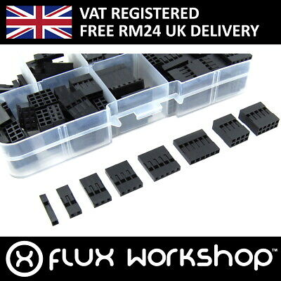 150pcs Pin Connector Housing Set 2.54 2x4p 2x5p Dupont Wire Flux Workshop