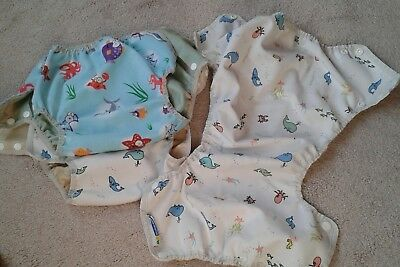 3 x USED Mother-Ease airflow nappy outers. Size Large.