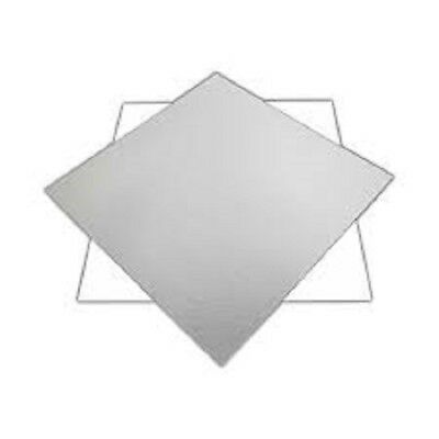 """Reversable Silver and White Cake Boards 1.5mm thick 4""""6""""7""""8"""" round square"""