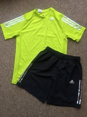 Boys Adidas Climacool Tshirt And Shorts Age 15  - 16