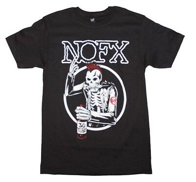 Authentic NOFX Old Skull Drinking Drugs Skeleton T-SHIRT S M L XL NEW