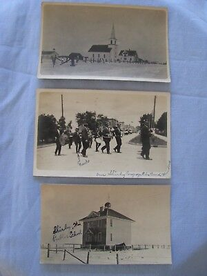 Wi Shirley Real Photo Postcard Antique  Wisconsintown Scenes Lot 3 Brown Co.rppc