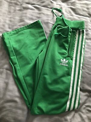 Green Adidas Originals Tracksuit Bottoms / Trousers Size M
