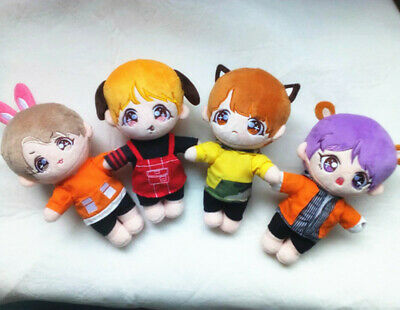 KPOP BTS Plush SUGA JUNGKOOK V JIMIN Doll Toy with clothes 20cm Gift【in stock】