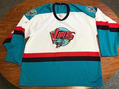 Mens Vintage Bauer Detroit Vipers Sewn Ihl Hockey Jersey Size Large