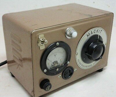 Mackit Voltage Regulator VR300 - 300 Watts , Vintage Variable Transformer Accs.