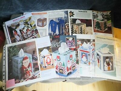 Christmas / Xmas / Winter Tissue Toppers Angels,Santa,Snowman,Tree's PC Patterns