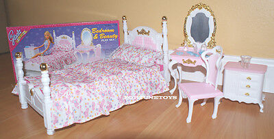 NEW GLORIA DOLL HOUSE FURNITURE Victorian Beauty Bedroom (2319)