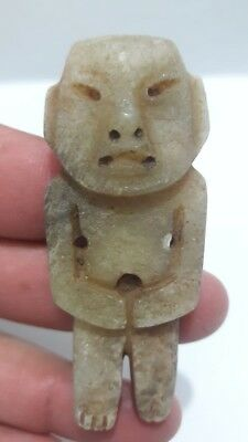 Pre-Columbian Olmec Stone Figure from Mexico. 300 bc.2.55 inches