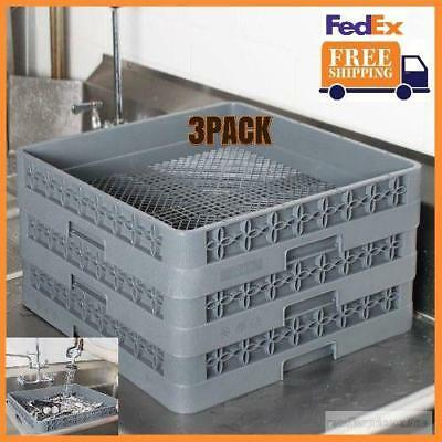 3 PACK Full Size Commercial Restaurant Dishwasher Machine Flatware Cup Rack NEW