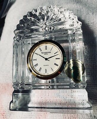 "Waterford Crystal Nocturne - Fanlight Clock 4"" High New In Box"