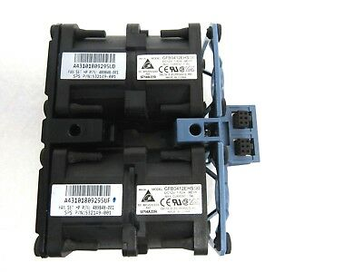 Lot of 4 HP 489848-001 532149-001 Dual Fan Assembly for ProLiant DL360 G6 360 G7