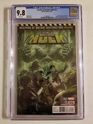 Totally Awesome Hulk 22 CGC Graded 9.8 1st Weapon H