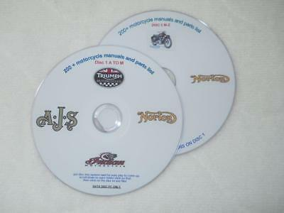 Motorcycle Manuals Parts List information  bsa triumph honda ktm ajs