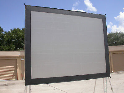 Da-Lite 6 x 8 Truss Frame Rear Projection -SCREEN SURFACE ONLY- Great Condition!