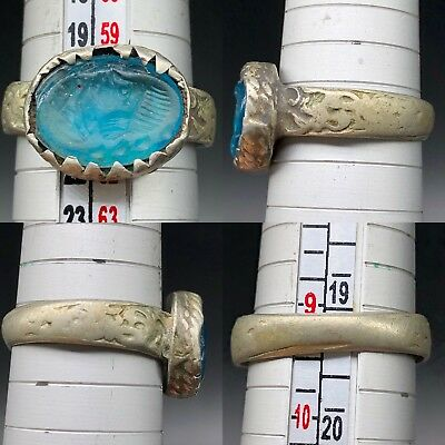 beautiful Rare Ring Ancient Roman Glass face wonderful old ring