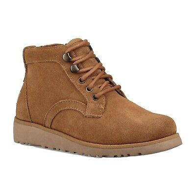 Ugg Australia Uggs Kids Childrens Chestnut Brown Banan Lace Up Low Top Boots