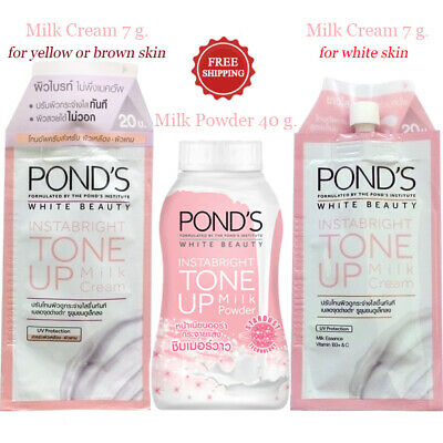 Pond's White Beauty Instabright Tone Up Milk : Powder 40 G. & Milk Cream 7 G.