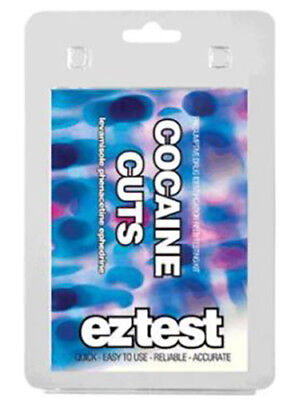 EZ Test Cocaine Cuts (1 test) Drug Testing Kit To determine The Amount Purity ☆☆