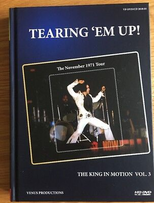 "Elvis  ""Tearing 'em Up ""  The King in Motion Vol.3           Book Dvd And 2 Cds"