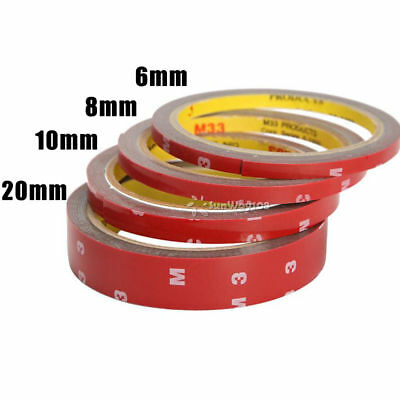 3M x 8,10,15,20 MM Vehicle Double Sided Sticker Car Adhesive Acrylic Foam Tape